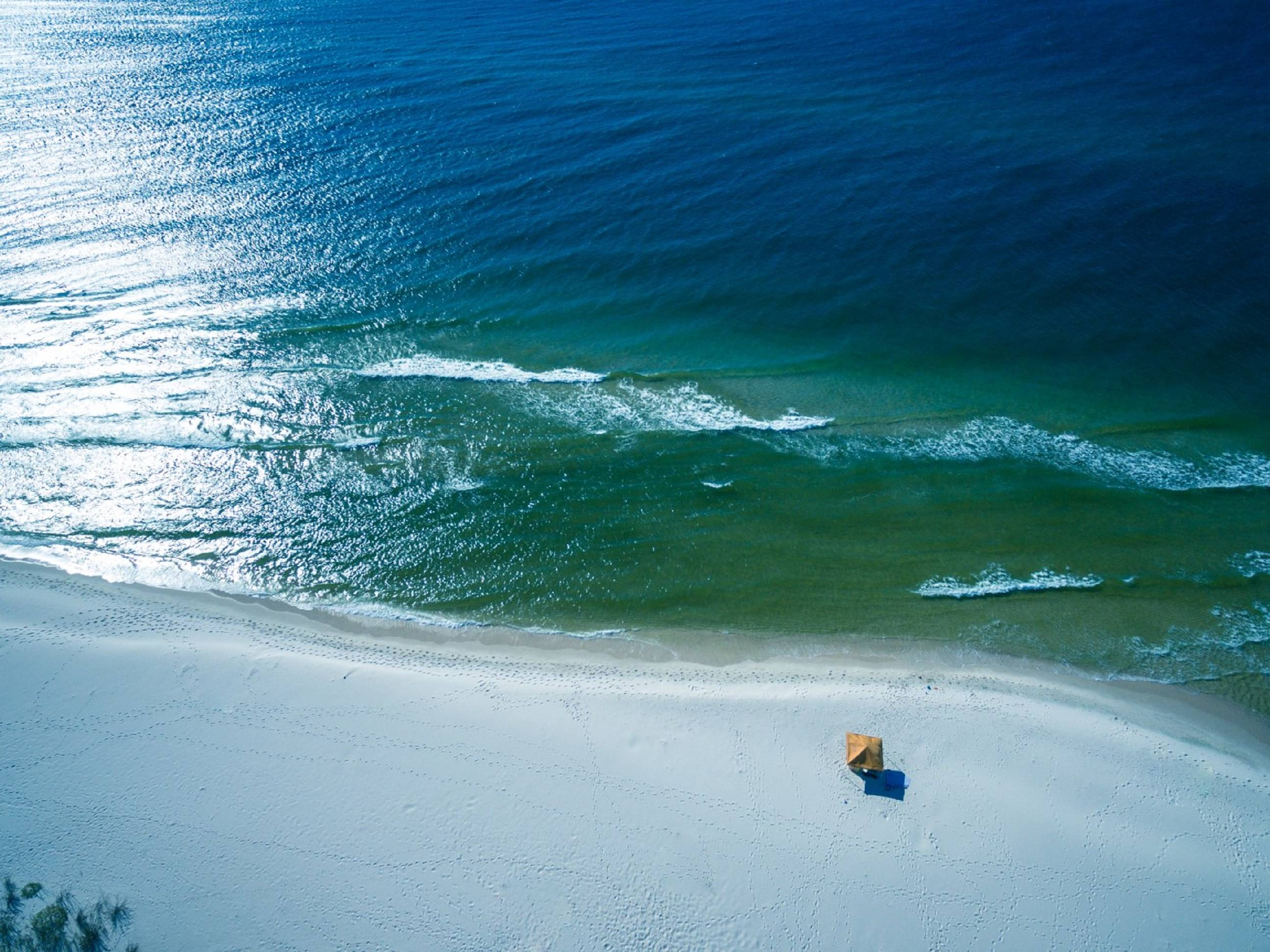 Enjoy the beautiful blue water and the sugar white sand.